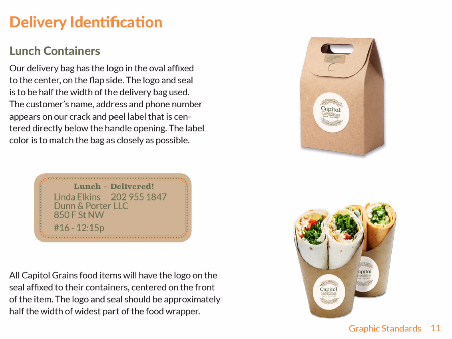 Delivery labels
