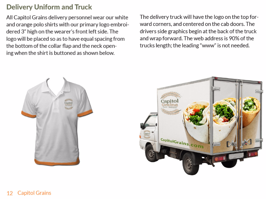 Delivery shirt & truck